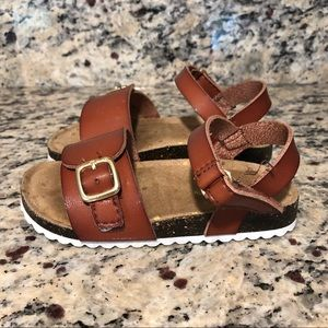 Cat & Jack Toddler Girls Cognac Sandals